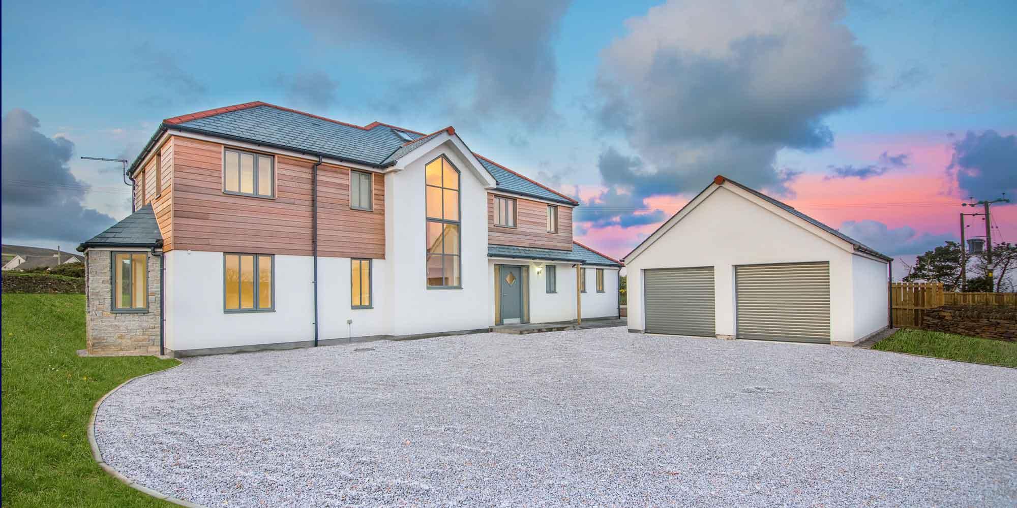 Lowena Kelys a four property development in St Agnes, Cornwall, UK