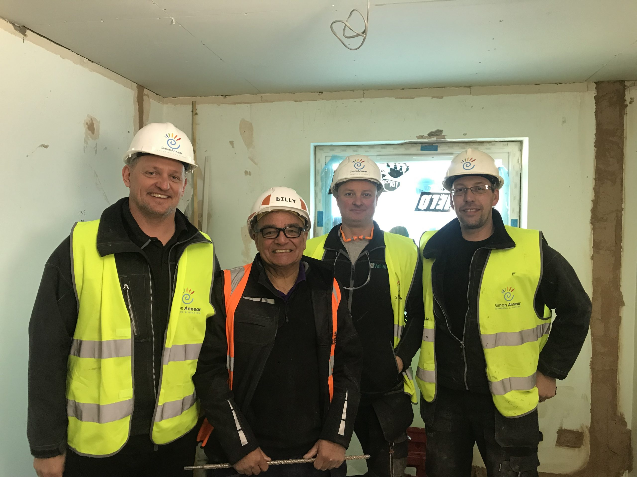 The Simon Annear Plumbing, Heating and Electrical team of installers in Cornwall