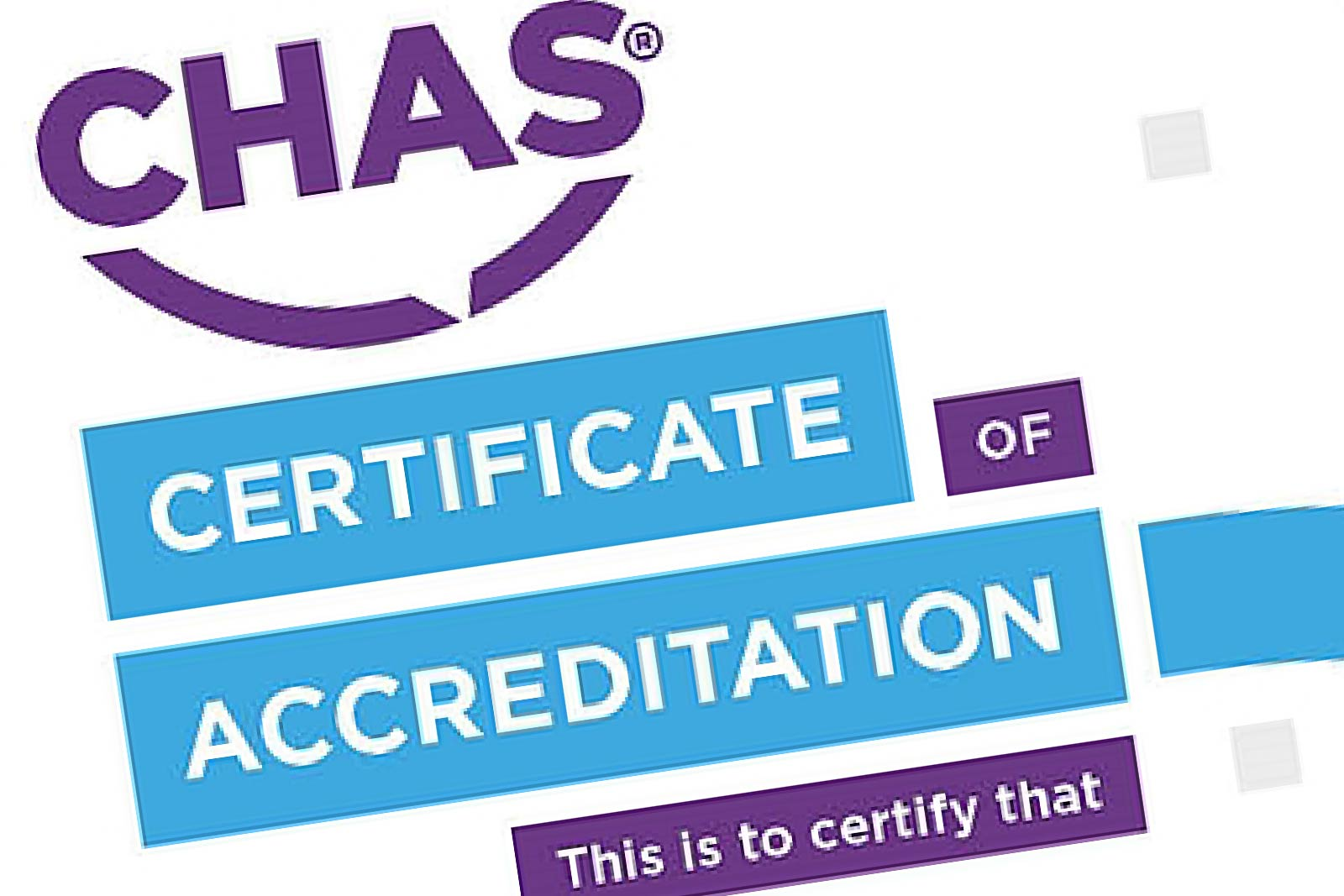 CHAS Accreditation for Simon Annear in Cornwall
