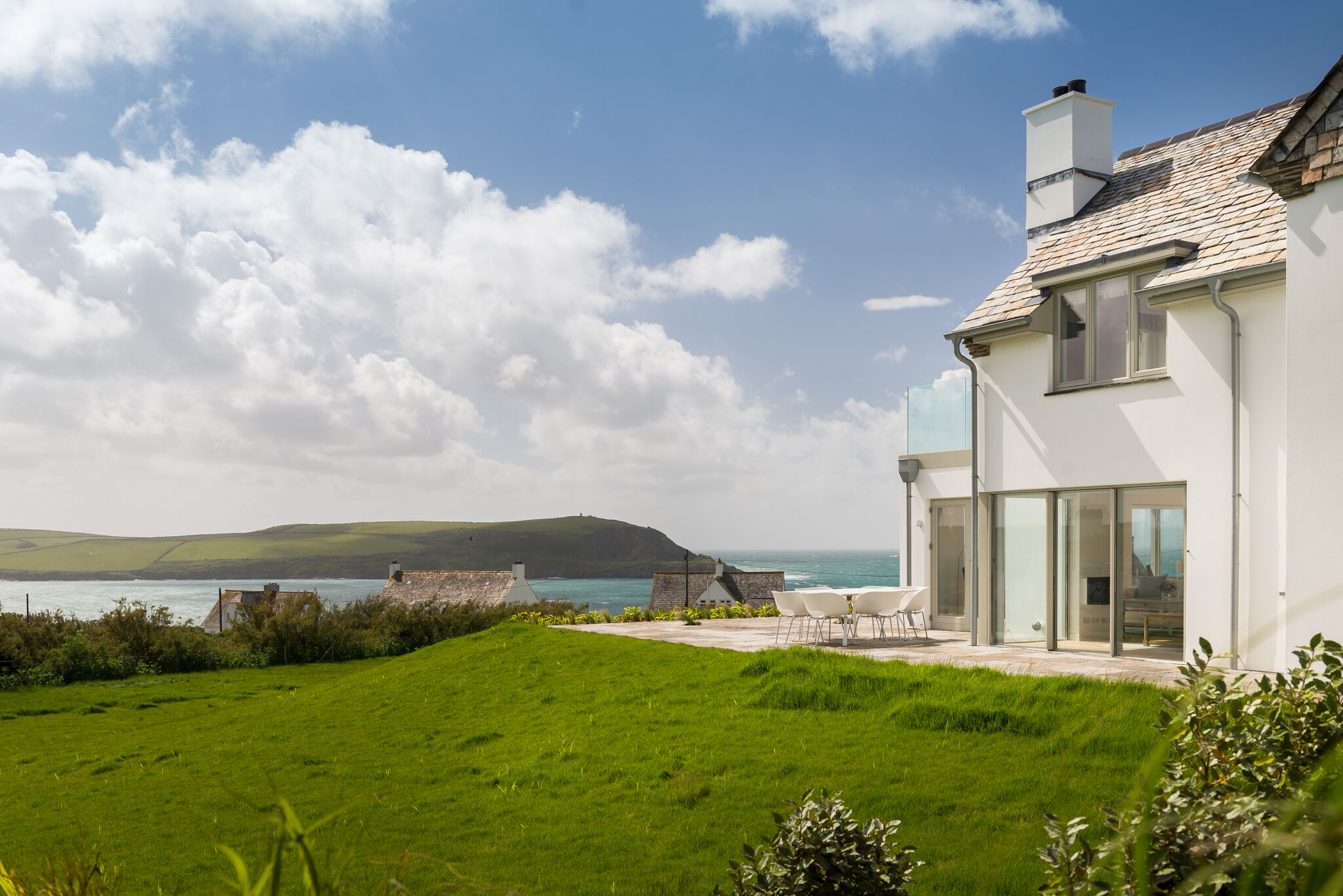 A house in Cornwall where we installed renewable energy heating systems
